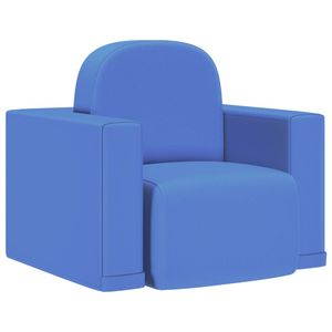 CHIC® 2-in-1 Kindersofa,Kindersessel,Kindercouch,Sofa,Kindermoebel,komfortabel Blau Kunstleder Größe:48 x 29 x 40 cm※2688