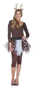Petticoat Tüllrock Rehkitz Rehlein Reh Karneval Fasching Kostüm
