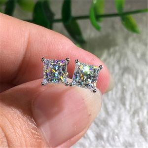 Zirkonia Ohrstecker Damen Kristall Ohrringe für Frauen Diamant Ohrschmuck Brautschmuck, Damen Geschenk
