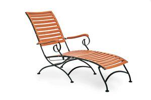 Merxx Schlossgarten Relaxliege - Farbe: schwarz/braun - Maße: 137 cm x 65 cm x 89 cm; 24246-217