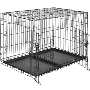 tectake Hundebox Gitter tragbar - 106 x 70 x 76 cm