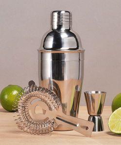 3-tlg. Edelstahl Cocktail Mixer Bar Set Shaker Messbecher Barsieb Cocktailset