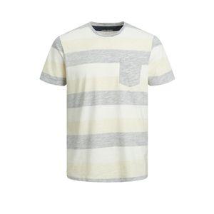 T-Shirt mit Streifen , Größe:L, Farbe:Blau