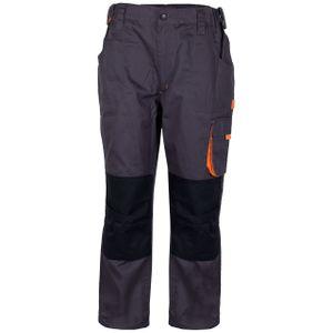 Premium Herren Arbeitshose  Bundhose Kontrast Design mit Knieverstärkung Anthrazit, Farbe:Anthrazit/ Royalblau, Größe:56
