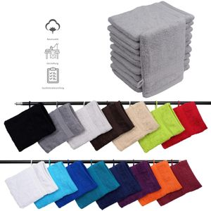 Müskaan - 10er Set Frottee Waschhandschuhe Elegance 16x21 cm 100% Baumwolle 500 g/m² Waschhandschuh, Farbe:silber