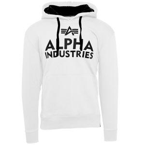 Alpha Industries Herren Hoodie Foam Print white M
