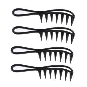 4 Stück Weizenstiel Griffkamm Frisierkamm Haarkamm Breite Zähne Kamm für Lockiges Langes Haar