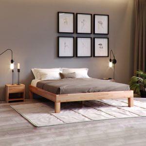 Krok Wood Massivholzbett Jana in Buche 200 x 200 cm