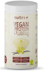 PROTEIN PUDDING VANILLE Vegan 500g - 83,4% Eiweiß - 113 Kalorien - Low Sugar Dessert - Vanille Geschmack - Vanillepudding - Laktosefrei - Glutenfrei