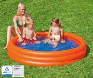 Wehncke Happy People 3-Ring-Pool, aufblasbar, 100 x 23 cm, Mini Planschbecken