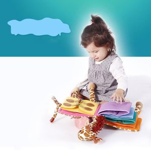 DIY Reißverschluss Button Schnürung Stoffbuch Lernbuch für Kleinkind