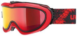 Uvex Skibrille Comanche TO takeoff mit Wechselglas, Farbe:rot