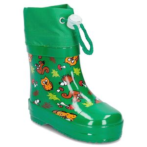 Playshoes Gummistiefel Waldtiere gefüttert, Farbe: grün, Größe: 26