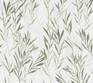 A.S. Création Blumentapete Flavour florale Tapete Vliestapete grün weiß 10,05 m x 0,53 m