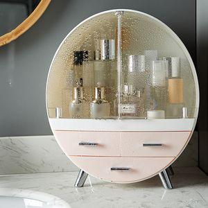 Meco Kosmetikbox Kosmetik organizer Make up Beauty Schmuck Aufbewahrung Koffrer Lippenstifthalter Pink 34cm