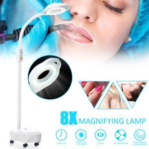 8 x LED Lupenleuchten Lupenlampe dimmbar Echtglaslinse Kosmetik Sehhilfe