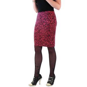 Pinker Leoparden Print Damen Rock Enganliegend one size