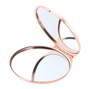 Doppelseitig Taschenspiegel Klappbar Make-up Spiegel Klappspiegel Schminkspiegel Farbe Rose Golden