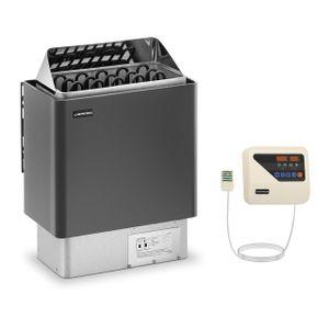 Uniprodo Set Saunaofen mit Saunasteuerung - 8 kW - 30 bis 110 °C - LED-Display