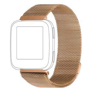 topp Mesh Armband für Fitbit Versa schwarz, Farbe:Rosegold