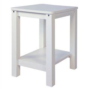 Homestyle4u 1827, Beistelltisch Weiß, Nachttischaus Holz Schlafzimmer, Couchtisch Wohnzimmer