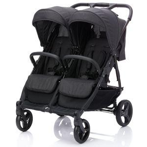 BABY-PLUS Kinderwagen Zwillingssportwagen GEMELLI, anthrazit