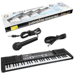 Elektro. Kinder Keyboard 61 Tasten Lernfunktion Digital Piano mit Notenständer Mikrofon