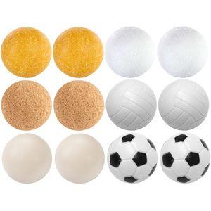 12 Stück Kicker Bälle Mix Tischfussball Kickerbälle Ball