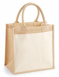Westford Mill Jute-Tasche Baumwolle Pocket Jute Midi Bag W426 Beige Natural 30 x 30 x 19 cm