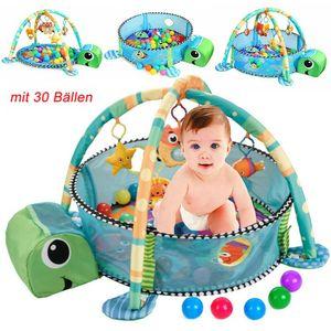 Erlebnisdecke Spieldecke Krabbeldecke Bällebad mit 30Bällen Kinderzimmer Baby GD