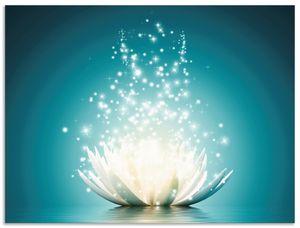 ARTland Alubilder Magie der Lotus-Blume Alubild Größe: 40x30 cm