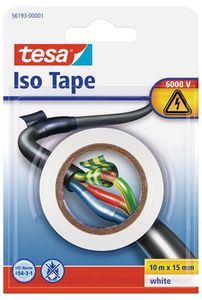 tesa® Isolierband 10 m x 15 mm weiss Blister