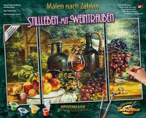Schipper 609260847 Malen nach Zahlen Triptychon Stillleben mit Weintra