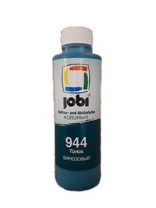 5 x 0,5 L Jobi Vollton- und Abtönfarbe Innen/Außen 944 Türkis 2,5 L