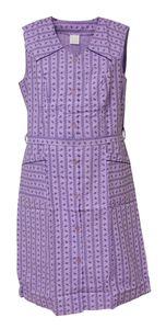 Damenkittel Baumwolle ohne Arm Kittel Schürze Knopfkittel bunt Hauskleid, Größe:56, Design:Design 3