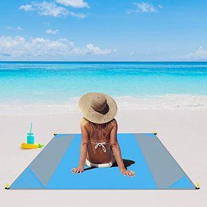 Picknickdecke, 200 x 210 cm Stranddecke Strandmatte wasserdichte Strandtuch sandabweisende Tragbare Camingmatte