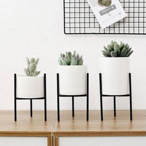 3 Stücke Metall Pflanze Stehen Saftigen Blumentopf Pflanzer Für Büro Wohnkultur