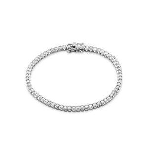 Amor Schmuck Tennisarmband für Damen, Sterling Silber 925, Zirkonia Silber