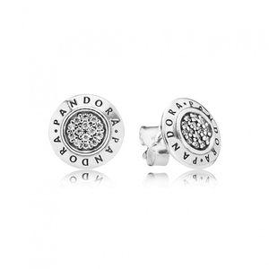 Pandora Ohrstecker Silber mit weißen Zirkonia PANDORA 290559CZ