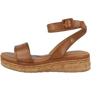 Tamaris Damen Sandalen Keilabsatz Sandaletten 1-28231-26, Größe:38 EU, Farbe:Braun