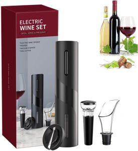 NightyNine Korkenzieher Elektrisch, 5-in-1 Elektrischer Korkenzieher Set, Automatische Weinöffner Flaschenöffner mit Folienschneider, Vakuumstopfen und Weinausgießer