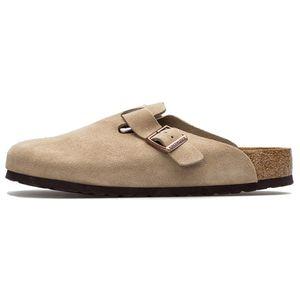 BIRKENSTOCK Boston Clogs Pantoffel Hausschuhe Beige Schuhe, Größe:42