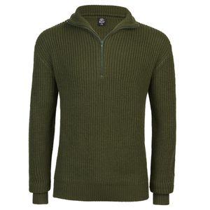 Brandit - Marine Pullover Troyer 5019 1-oliv Pullover BW Größe XL 54/56