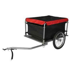 Fahrrad Lastenanhänger bis 65 kg mit umklappbarer Deichsel & Schnellkupplung