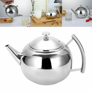 Teekanne Teebereiter 2L mit abnehmbare Edelstahl-Sieb Aufheizbar EdelstahlKanne