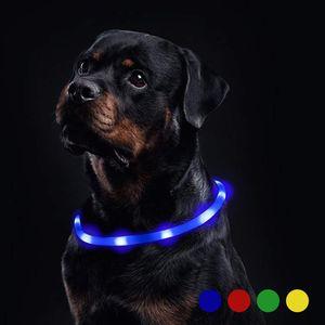 LED-Lichthalsband Hund kann kontinuierlich für 20 Stunden wasserdicht (verbessert) wiederaufladbare Nachtsicherheit Hundehalsband Hund und Katze Lichtgürtel leuchten