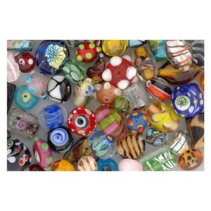 Lampenperlen Bunt-Mix - Glasperlen handgemacht, 1kg Großpackung