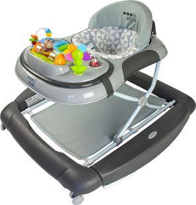 ib style® 2 in 1 BIG ROCKER Gehfrei mit Schaukelfunktion Babywippe Babywalker Lauflernhilfe   Little World Grau