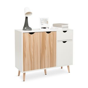 Meerveil Beistellschrank, Schließfachschrank, Kommode, Sideboard, geeignet für Wohnzimmer, Schlafzimmer, Flur, multifunktionale Möbel