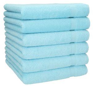 Betz 6 Stück Handtücher PALERMO 100% Baumwolle Handtuch-Set   Farbe - türkis